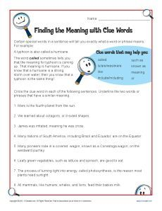 Worksheets Context Clues Worksheets 2nd Grade 1000 images about inference activities on pinterest context find the meaning with clue words text worksheetworksheet focusescontext