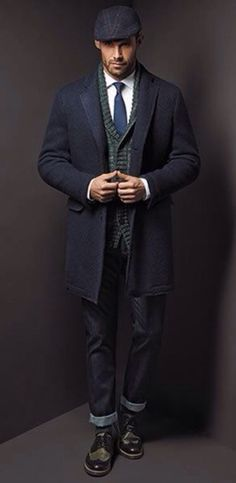 Grey Wool Overcoat, by Florentino.