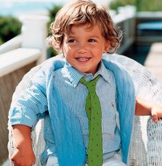Preppy little boy - Love these colors.