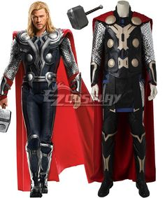 Avengers: Age of Ultron Thor Odinson Costume (Boots, Hammer Included) -  DeluxeAdultCostumes