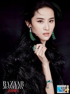 Chinese actress Liu Yifei http://www.chinaentertainmentnews.com/2015/12/liu-yifei-graces-jewelry-magazine.html