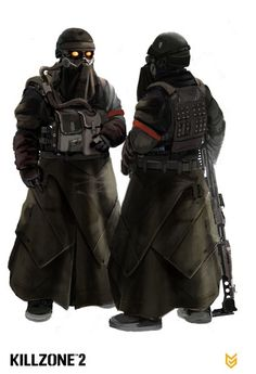 Killzone 2 - PS3 Game Helghast Elite Trooper Concept Art