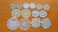 Wonderful Set of Vintage Doilies. These doilies will be perfect for scrapbooking, sewing crafts, holiday decorating, home décor, and so much more!  * Quantity: 14 pieces ** Sizes: vary between 2.5 and 4 inches approximately  ~~~ You can find all of my vintage doily sets in my shop here: http://etsy.me/1tkht4b  *** *** *** *** *** *** *** *** *** *** *** *** *** *** *** *** ***  * You will receive the same assortment shown in the photos. ** Please remember these are vintage doil...