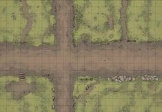 The Country Road, a battle map for D&D / Dungeons & Dragons, Pathfinder… Dungeon Tiles, Dungeon Maps, Fantasy Map, Fantasy World, Fantasy Battle, Pathfinder Maps, Forest Map, Rpg Map, Dragon Rpg