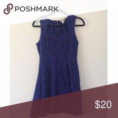 Blue cutout dress Worn once Ambar Dresses Mini