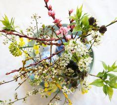 Wild flowers in ikebana style