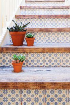 Wood and Tile Kitchen Floor Inspirations on the Handmade Childhoods blog by Fleur + Dot Handmade, Fashion, Fun + Design