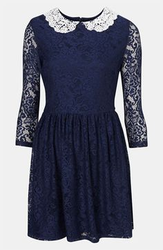 Topshop Lace Dress - $96.00  This girly lace dress has a great vintage feel @Nordstrom #fallfashion