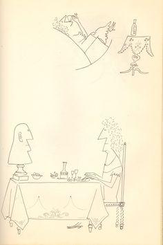 Dinner-Pedestal.jpg (1000×1500) saul steinberg