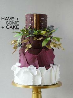 Couture Cakes, Ruffle Cake, Sugar Art, Cake Art, Allrecipes, Wedding Cakes, Desserts, Grooms, Cake Ideas