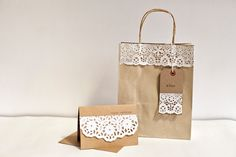 Wedding or Party Favour (Favor)  Bags -  Kraft Paper Gift Bags. £10.00, via Etsy.