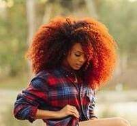 Fire Fro - hair goal! I LOVE LOVE LOVE This color!
