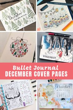 Are you ready for some exciting December Bullet Journal themes? We've got festive cover pages and themes for the Holiday season! Bullet Journal October, Bullet Journal Travel, Bullet Journal Cover Ideas, Bullet Journal Monthly Spread, Bullet Journal Font, Bullet Journal Printables, Bullet Journal School, Bullet Journal Themes, Journal Covers
