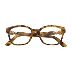 Trinity de Cartier Collection - Light tortoiseshell effect composite, 3-tone finish - Fine Prescription glasses for women - Cartier
