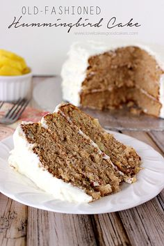 Hummingbird Cake is an old-fashioned three-layer banana pineapple spice cake, popular in the Southern United States. #pineapple #banana #cak...
