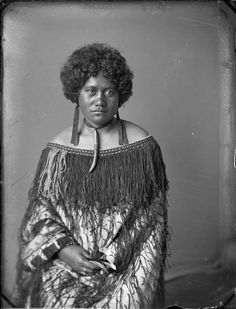Carte de visite portrait of Marata Te Heuheu, wife of Urupene Puhara of Pakipaki, Hawkes Bay, taken, probably in the by Samuel Carnell of Na. Maori People, African Diaspora, People Of The World, African American History, Black People, Black Is Beautiful, Cool, Black History, Culture