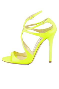 Neon yellow Jimmy Choo sandals say spring is coming