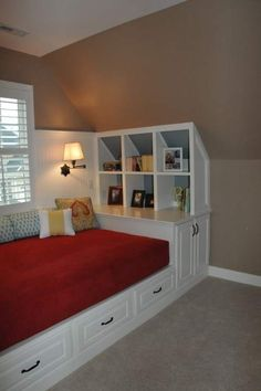 Would love to have a little space like a loft or something for a nook like this.