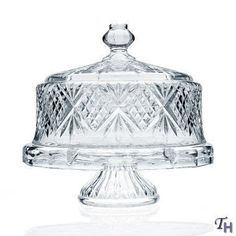 Godinger Dublin Crystal Cake Plate with Dome Cover by God...