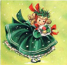 fete noel vintage gifs images - Page 2 Vintage Christmas Images, Old Fashioned Christmas, Christmas Past, Retro Christmas, Vintage Holiday, Christmas Pictures, Christmas Crafts, Christmas Girls, Vintage Greeting Cards