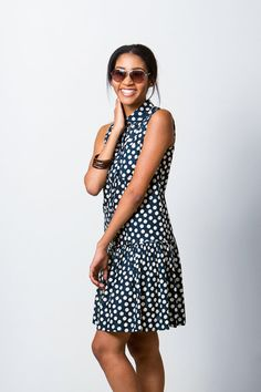 Drop Waist Shirt Dress Sewing Pattern  PDF by PatternRunway