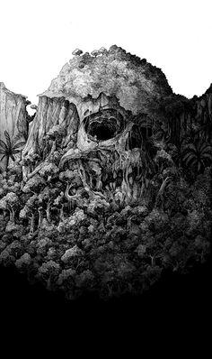 Skull island by iannocent. #illustration #drawing