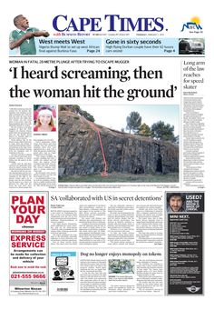 News making headlines: ' I heard screaming, then the woman hit the ground'