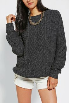 BDG Fall For Cable-Knit Sweater... so expensive doe. But Looks awesome!