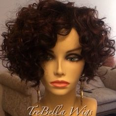 (Front View) 2nd unit for the same client. She used hair from another previous install. TreBella curly bob full unit. Questions? Please visit the website at www.trebellawigs.com. #wig #wigs #wigmaker #wigmaster #trebella #trebellawigs #shorthair #curls #curly #curlyhair #chic #fulllwig #bob #bobseason #extensions #protectivestyles