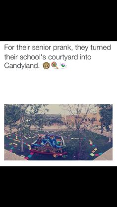Cool senior prank turn the quad into a board game! @jessadanielle
