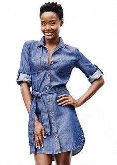 Mirabel Denim Shirt Dress - Plus Size Dresses - Dresses - Clothing - mobile - Alloy Apparel