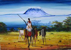 Kilimanjaro Ahead  by Kelvin Malack of Kenya