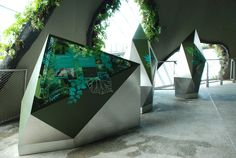 Gardens by the Bay Graphic Panels by Weiming Huang, via Behance