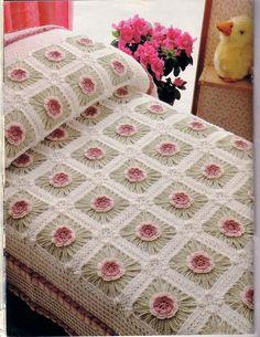 ~ Crochet Style ~: colcha lecho de flores
