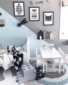 """Inspiration from Instagram - mint and grey, black and white kids room decor, Scandinavian style, boys room ideas- Interior 