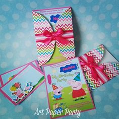 20 Peppa Pig invitation and 20 thank you card. by ArtPaperParty