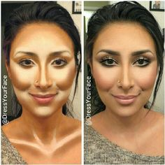 Ridiculous contouring, but good for stage