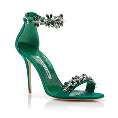 Firadou 105 emerald crystal sandal Manolo Blahnik f3pjN
