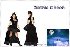 Sexy Gothic Queen Erotik Kostüm