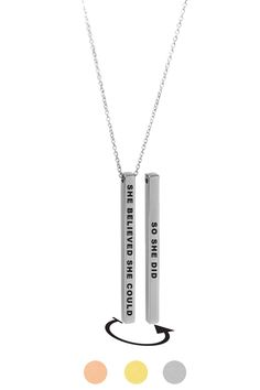 Motivational Inspirational Law of Attraction Mantra I am light Spiritual Engraved Silver Bar Chain Necklace Gold Silver Rose