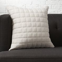 """quadro quilted natural 18"""" pillow with down-alternative insert"""