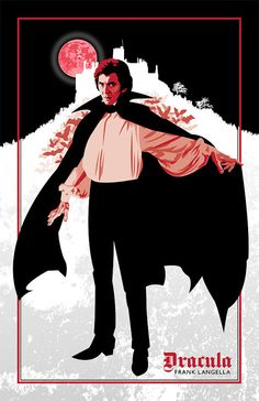 Frank Langella as the Count, from the lush and elegant 1979 John Badham version of Dracula. This print has a 'blink and you'll miss it' role in Season 6 of True Blood.  Digital Print as by DadManCult, $15.99