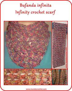 Bufanda infinita / Crochet infinity scarf
