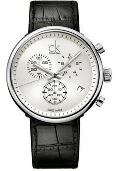 cool Calvin Klein Men's Watch XL Leather substantial Chronograph Quartz just added. Ck Calvin Klein, Calvin Klein Watch, Gents Watches, Stylish Watches, Watches For Men, Unique Watches, Wrist Watches, Watch Deals, Herren Chronograph