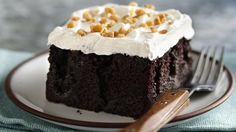 The combination of rich ingredients produces a decadent, caramel-soaked cake that's sure to be a hit!