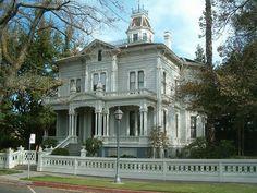 McHenry Mansion, Modesto, California, circa 1883 Italianate Victorian