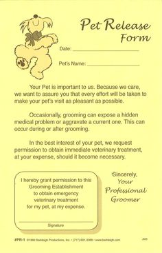General Pet Release Forms