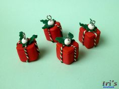 Christmas polymer clay presents