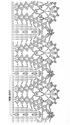 Crochet Border Patterns, Crochet Collar Pattern, Crochet Boarders, Crochet Shirt, Knit Or Crochet, Filet Crochet, Easy Crochet, Motif Bikini Crochet, Crochet Lace Edging