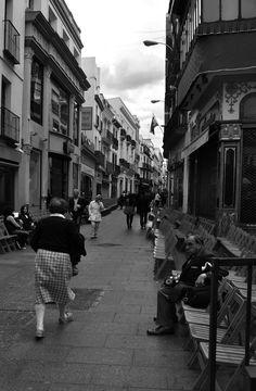 Calle Sierpes en fiestas, Sevilla,  by PVillegas